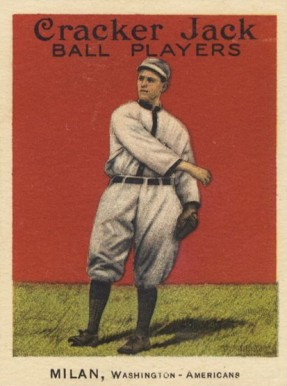 1915 Cracker Jack MILAN, Washington-Americans #56 Baseball ...