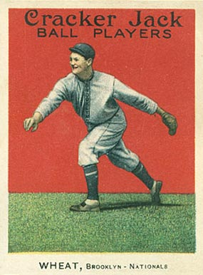 1915 Cracker Jack Zach Wheat #52 Baseball Card