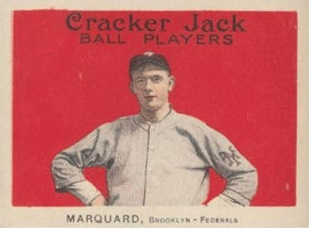 1915 Cracker Jack MARQUARD, Brooklyn-Federals #43 Baseball Card