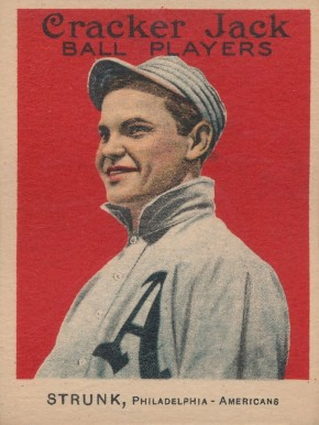 1915 Cracker Jack STRUNK, Philadelphia-Americans #33 Baseball Card