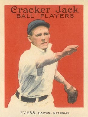 1915 Cracker Jack EVERS, Boston-Nationals #18 Baseball Card