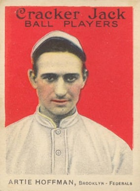1915 Cracker Jack ARTIE HOFFMAN, Brooklyn-Federals #9 Baseball Card