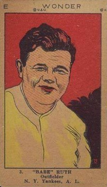 "1923 W515-2 Strip Card ""Babe"" Ruth #3 Baseball Card"