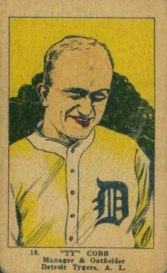 1923 W515-2 Strip Card Ty Cobb #10 Baseball Card