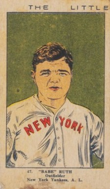 1923 W515-2 Strip Card Babe Ruth #47 Baseball Card