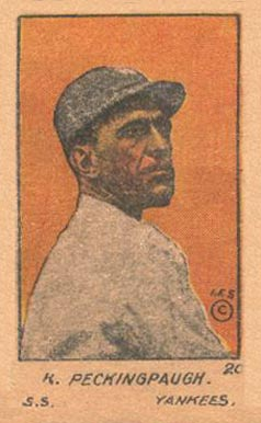 1920 W516-1 Strip Card R. Peckinpaugh #20 Baseball Card