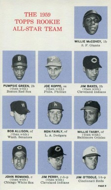 1964 Topps Rookie All-Star Banquet Willie McCovey #8 Baseball Card