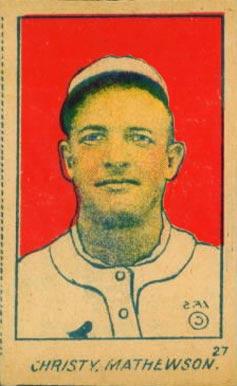 1921 W516 2 2 Strip Card Christy Mathewson 27 Baseball