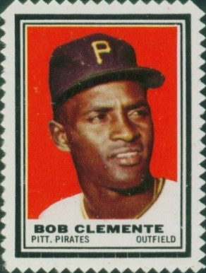 1962 Topps Stamps Roberto Clemente #39 Baseball Card