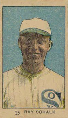 1921 Strip Card Ray Schalk #15 Baseball Card