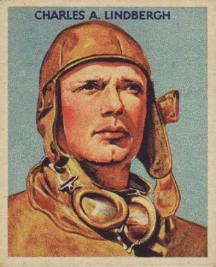 1934 National Chicle Sky Birds Charles Lindbergh #36-48 Non-Sports Card
