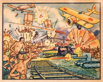 1938 Gum Inc. 'Horrors Of War'   #10 Non-Sports Card
