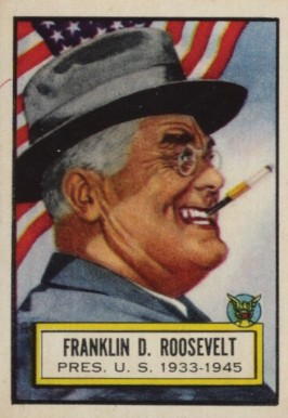 1952 Topps Look 'N See Franklin D. Roosevelt #1 Non-Sports Card