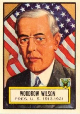 1952 Topps Look 'N See Woodrow Wilson #2 Non-Sports Card