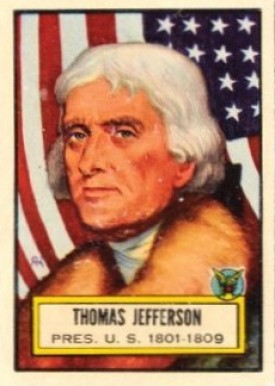 1952 Topps Look 'N See Thomas Jefferson #3 Non-Sports Card