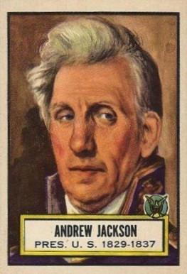 1952 Topps Look 'N See Andrew Jackson #8 Non-Sports Card