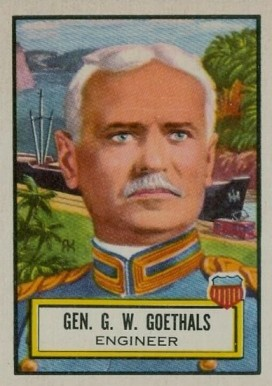 1952 Topps Look 'N See George Goethals #10 Non-Sports Card