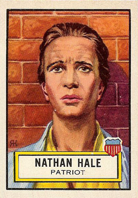 1952 Topps Look 'N See Nathan Hale #11 Non-Sports Card