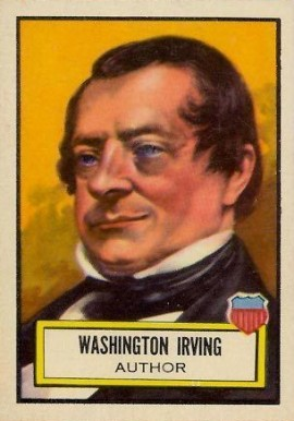 1952 Topps Look 'N See Washington Irving #18 Non-Sports Card