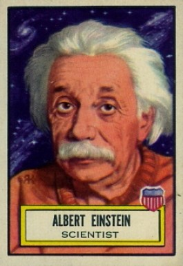 1952 Topps Look 'N See Albert Einstein #20 Non-Sports Card