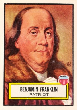 1952 Topps Look 'N See Benjamin Franklin #21 Non-Sports Card