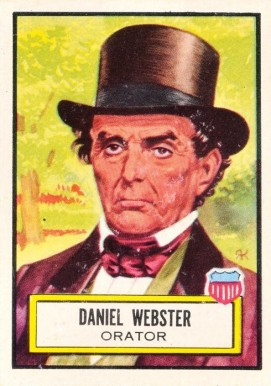 1952 Topps Look 'N See Daniel Webster #22 Non-Sports Card