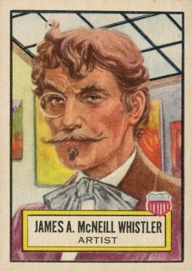 1952 Topps Look 'N See James A. McNeil Whistler #23 Non-Sports Card
