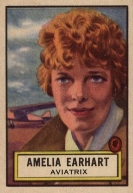 1952 Topps Look 'N See Amelia Earhart #45 Non-Sports Card