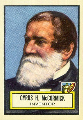 1952 Topps Look 'N See Cyrus McCormick #72 Non-Sports Card