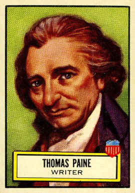 1952 Topps Look 'N See Thomas Paine #78 Non-Sports Card