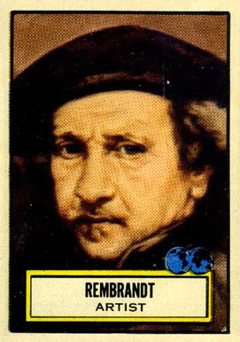 1952 Topps Look 'N See  Rembrandt #82 Non-Sports Card