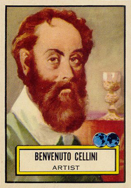 1952 Topps Look 'N See Benvenuto Cellini #86 Non-Sports Card