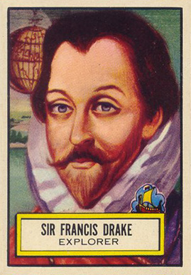 1952 Topps Look 'N See Sir Francis Drake #94 Non-Sports Card