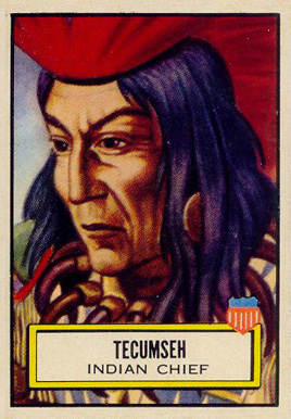 1952 Topps Look 'N See  Tecumseh #96 Non-Sports Card