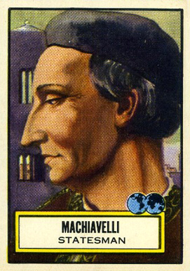 1952 Topps Look 'N See  Machiavelli #106 Non-Sports Card