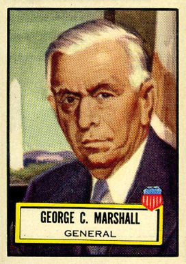1952 Topps Look 'N See George C. Marshall #107 Non-Sports Card