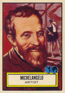 1952 Topps Look 'N See  Michaelangelo #108 Non-Sports Card