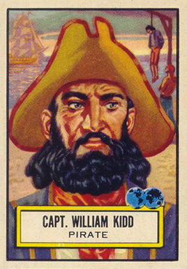 1952 Topps Look 'N See Capt. William Kidd #122 Non-Sports Card