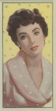 1955 Barbers Tea Cinema & TV Stars Elizabeth Taylor #7 Non-Sports Card
