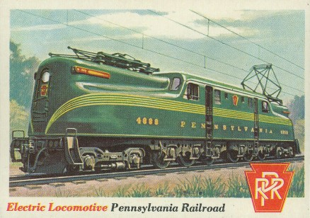 1955 Topps Rails & Sails Electric Locomotive #3 Non-Sports Card