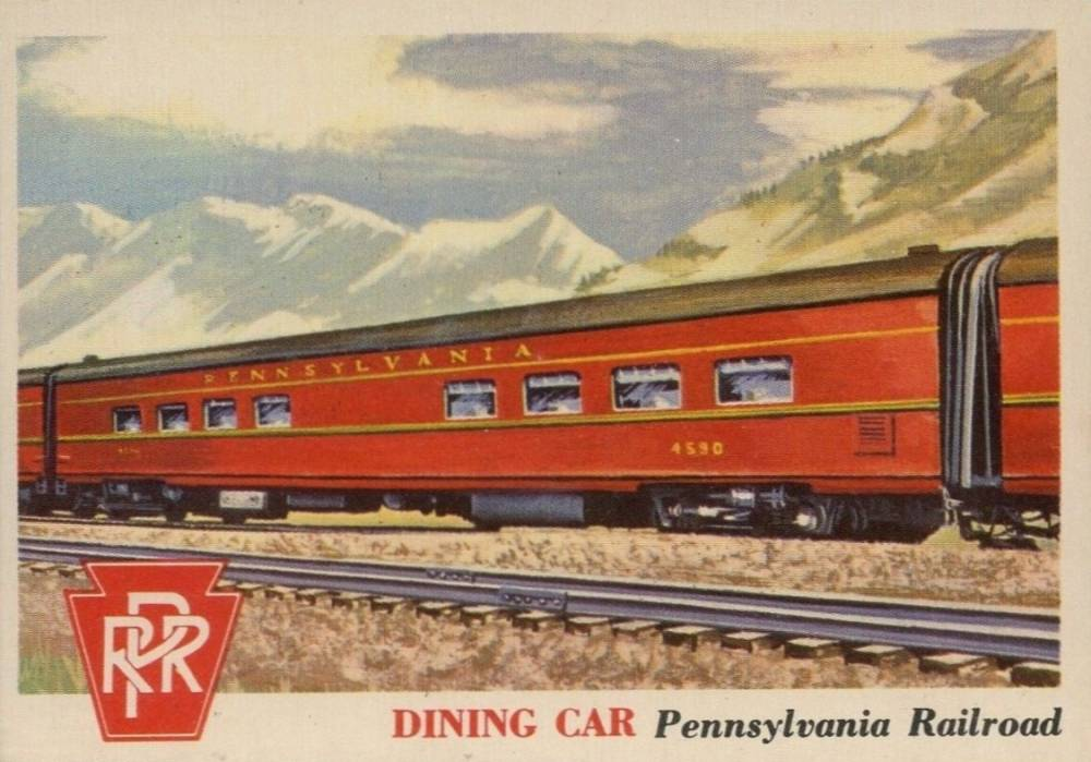 1955 Topps Rails & Sails Dining Car #96 Non-Sports Card