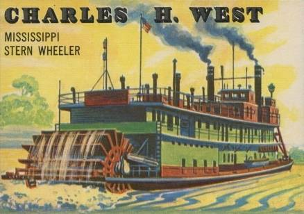 1955 Topps Rails & Sails Charles H. West #142 Non-Sports Card
