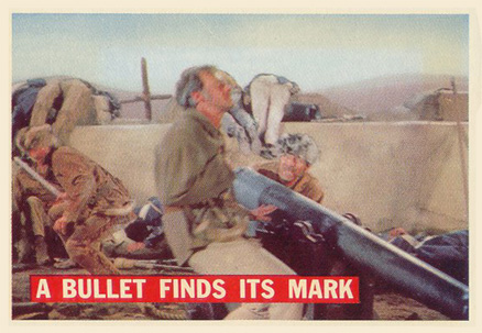 1956 Topps Davy Crockett (Orange Backs) A Bullet Finds Its Mark #76 Non-Sports Card