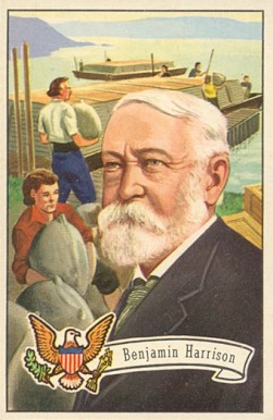 1956 Topps U.S. Presidents Benjamin Harrison #26 Non-Sports Card