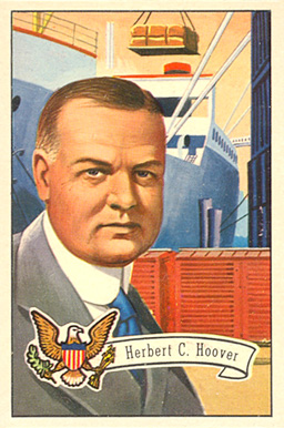 1956 Topps U.S. Presidents Herbert Hoover #33 Non-Sports Card