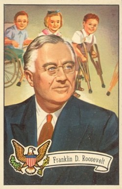 1956 Topps U.S. Presidents Franklin D. Roosevelt #34 Non-Sports Card