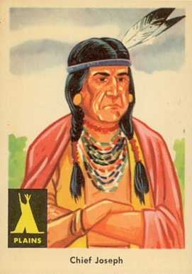 1959 Indian Trading Card  Chief Joseph #17 Non-Sports Card