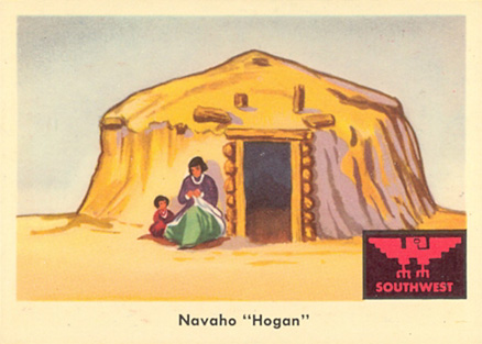 1959 Indian Trading Card  Navaho Hogan #63 Non-Sports Card