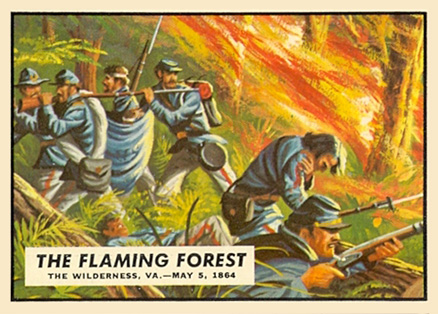 1962 Topps Civil War News The Flaming Forest #61 Non-Sports Card