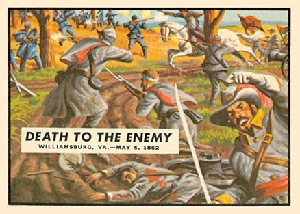 1962 Topps Civil War News Death To The Enemy #18 Non-Sports Card